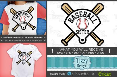 Baseball Sister Shirt - Baseball Sister Svg - Baseball Shirt Svg 3032