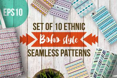 Boho seamless patterns
