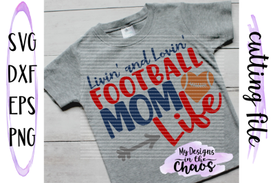 Football Mom SVG | Football SVG | Football Mom Design | Silhouette