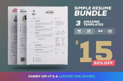 Simple Resume/Cv - Bundle Edition Vol.1