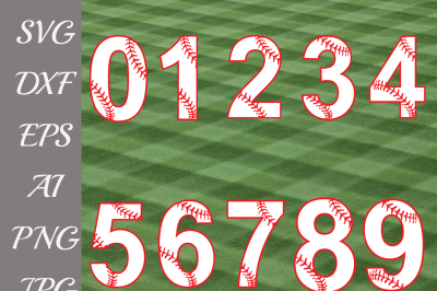Baseball Numbers Svg,BASEBALL SVG