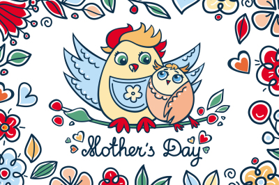 Mother's Day. Patterns. Postcards. Elements. Vector. Mom`s Day quotes.