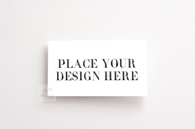 Mockup business visit card flatlay psd smart mock up white background