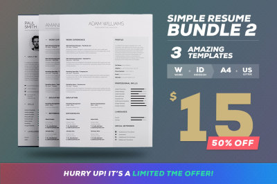 Simple Resume/Cv - Bundle Edition Vol.2