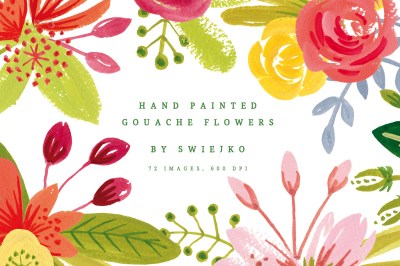 Simple Gouache Flowers