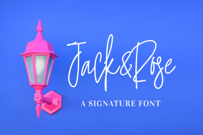 Jack and Rose - A Signature Font
