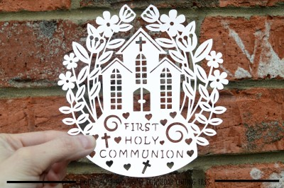Holy Communion Paper Cut SVG / DXF / EPS Files