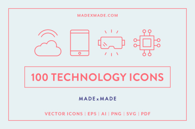 Line Icons – Technology