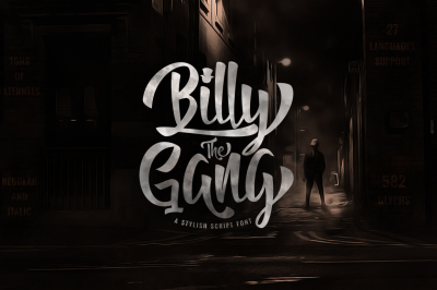Billy The Gang - Display Font