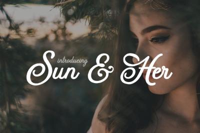 Sun & Her Script Font