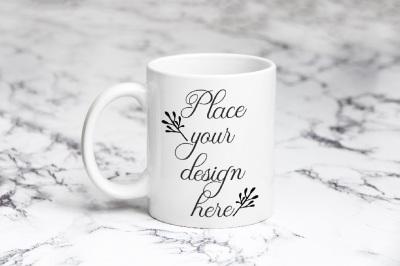 Coffee mug mockup white cup mock up psd smart template mockups