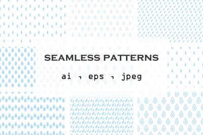 27 Vector seamless patterns . Digital paper . Scrapbook .