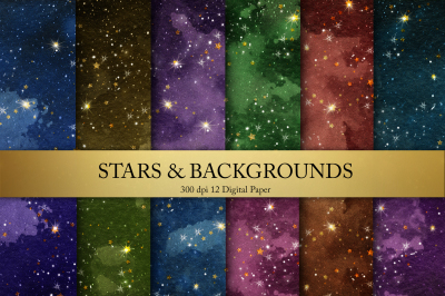 Gold Star Backgrounds