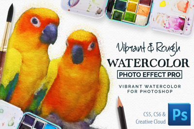Vibrant Watercolor Photo Filter Effect