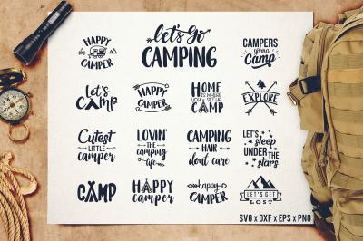 Camper SVG - Happy Camper SVG - Camping SVG - Camping Bundle - Camping