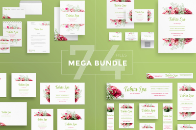 Design templates bundle | flyer, banner, branding | Tabita Spa Salon