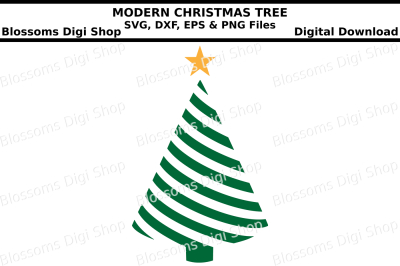 Christmas Tree cut files, SVG, DXF, EPS and PNG files