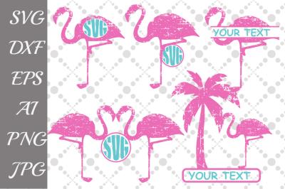 Flamingo monogram Svg,FLAMINGO SVG, Flamingo Cut File