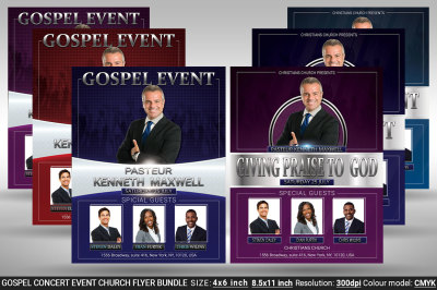 Gospel Concert Event Church Flyer Bundle
