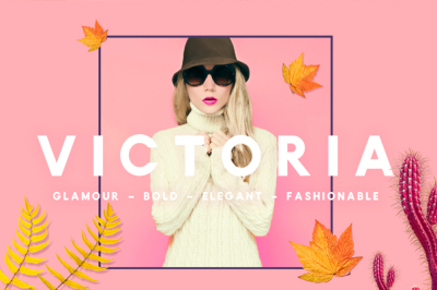 VICTORIA - Glamour, Elegant Typeface