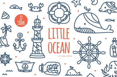 Little Ocean - Cute Summer Beach Cutting file