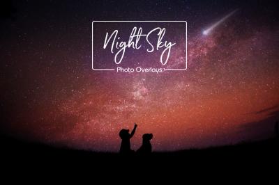 Night Sky and Moon Overlays