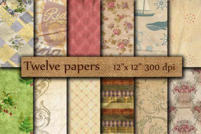 Crumpled digital paper