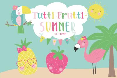 Tutti Frutti Summer clipart