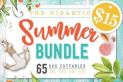 Summer Bundle - 65 Summer SVG files