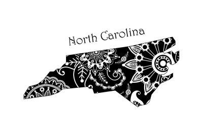 Mandala North Carolina SVG DXF EPS PNG AI