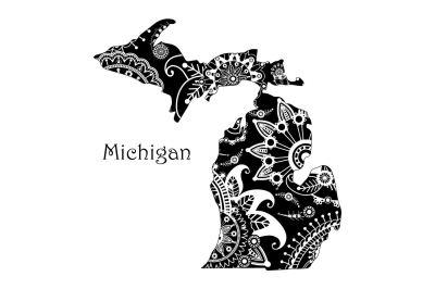 Mandala Michigan SVG DXF EPS PNG AI