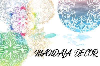 Mandala Decor (bonus Watercolor)
