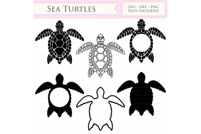 Sea Turtle SVG Files and Monogram