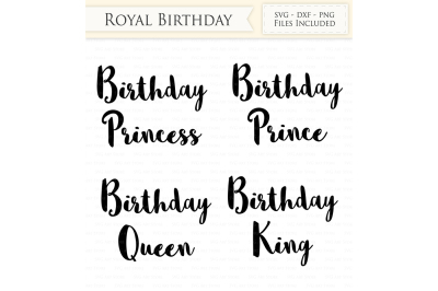 Royal Birthday SVG Files - Birthday Princess