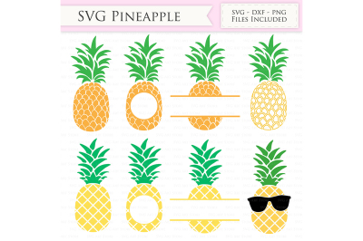 Pineapple SVG Files - Tropical Summer Pineapple Monogram