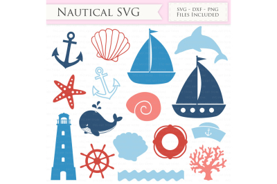 Nautical SVG Files - Sailing SVG Cut Files