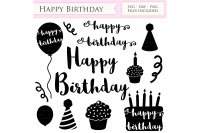Happy Birthday SVG Files - Birthday Cutting Files