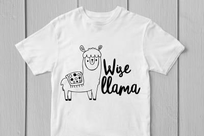 Wise Llama - Svg Cut File