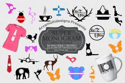 Monogram bundle svg vector / monogram frame bundle vector
