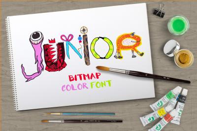 Junior bitmap color font