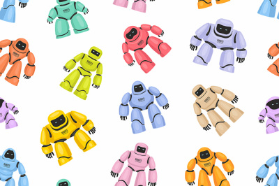 Seamless pattern of Robots