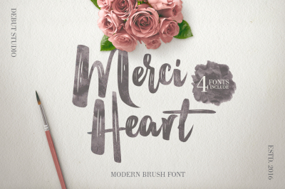 Merci Heart Brush (96% OFF)