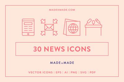 Line Icons – News