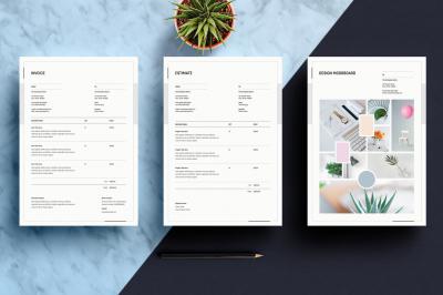 Mood Board, Invoice and Estimate