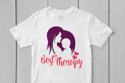 Best Therapy Mom's Love - Svg Cut File