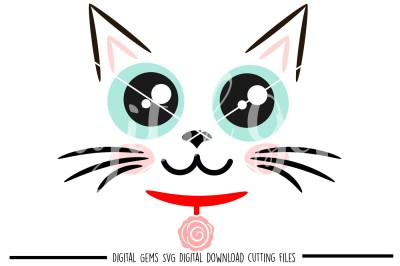 Cat face SVG / DXF / EPS / PNG files