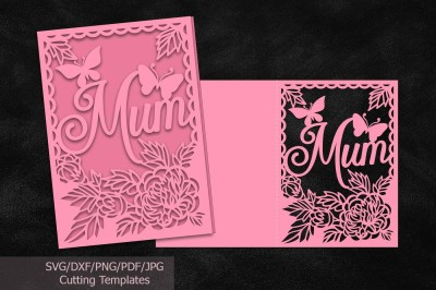 Mothers day cards svg files, file, mom, mum, cutting template, laser