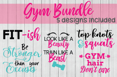 Gym SVG Bundle, DXF File, Cuttable File