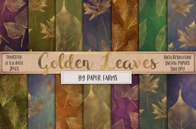 Gold leaf patterns