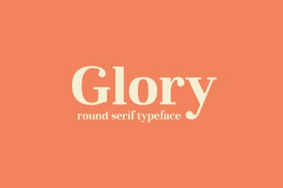 Glory - Round serif font